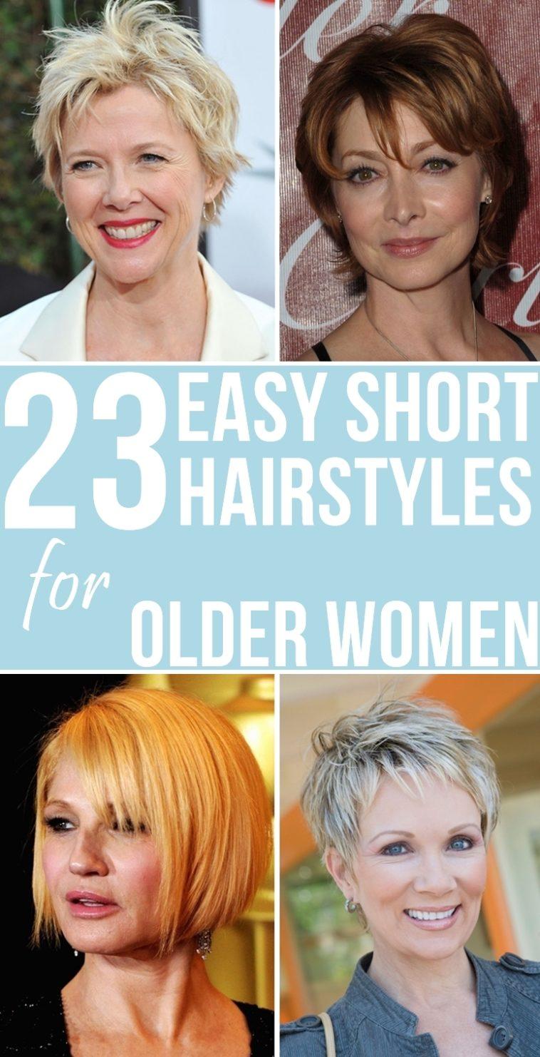 23 Easy Short Hairstyles For Older Women