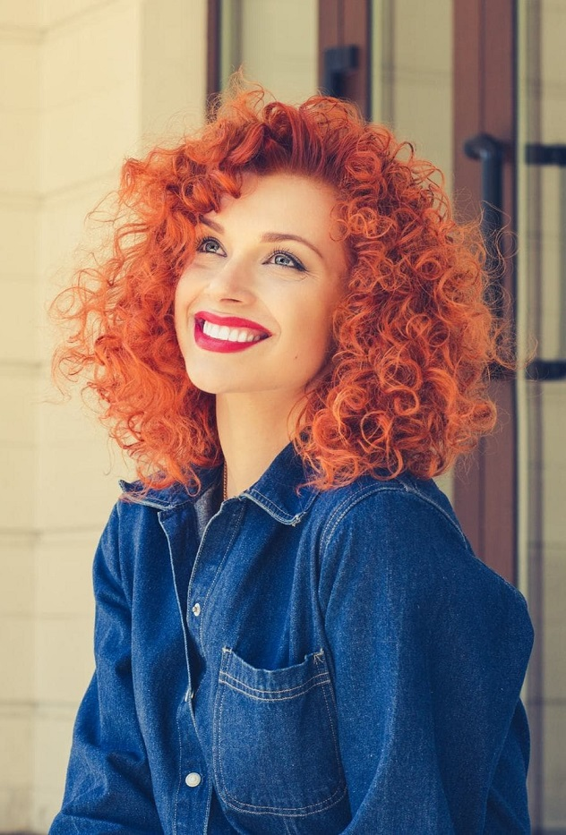 20 naturally medium length curly hairstyles