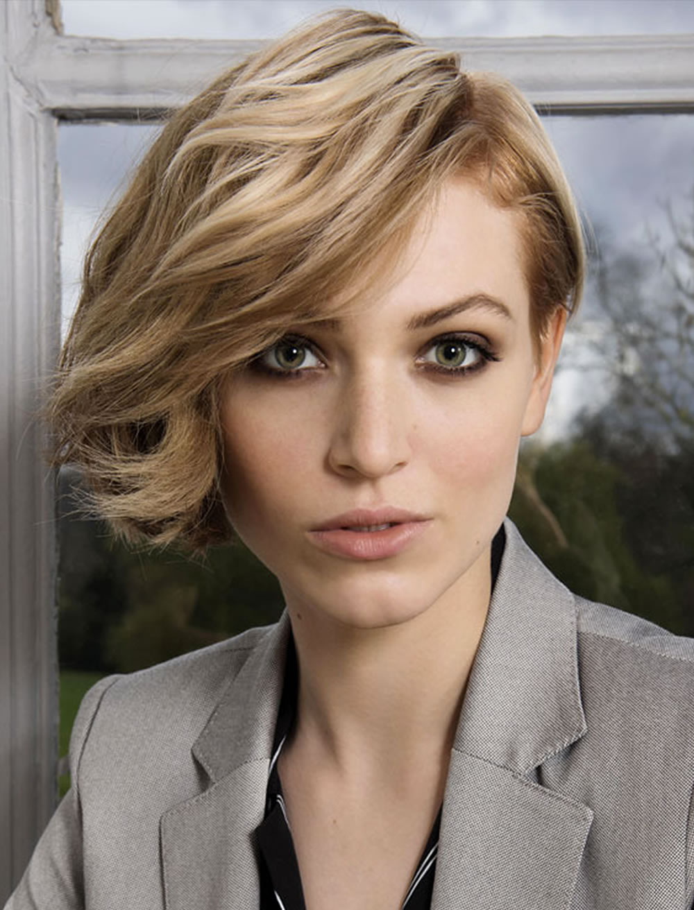 one side long one side short bob hairstyles for long faces