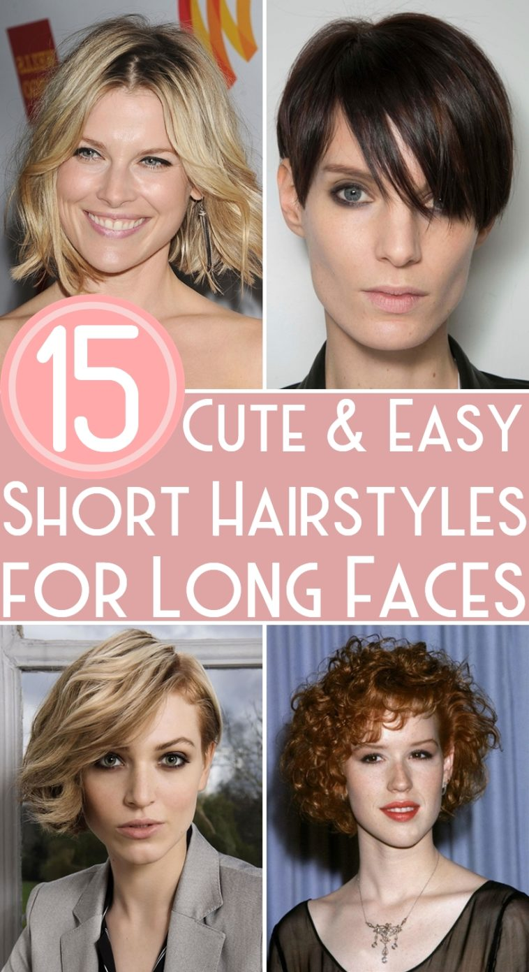 15 Cute Easy Short Hairstyles For Long Faces