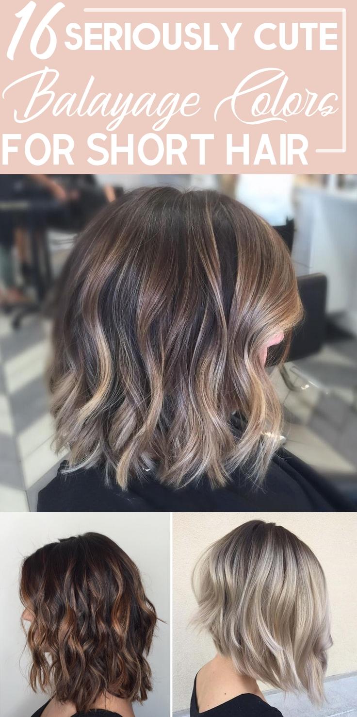Balayage Colors For Short Hair