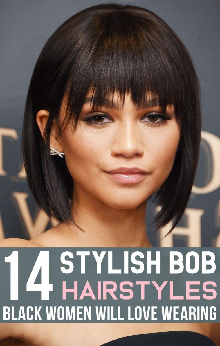 14 Stylish Bob Hairstyles Black Women Will Love Wearing